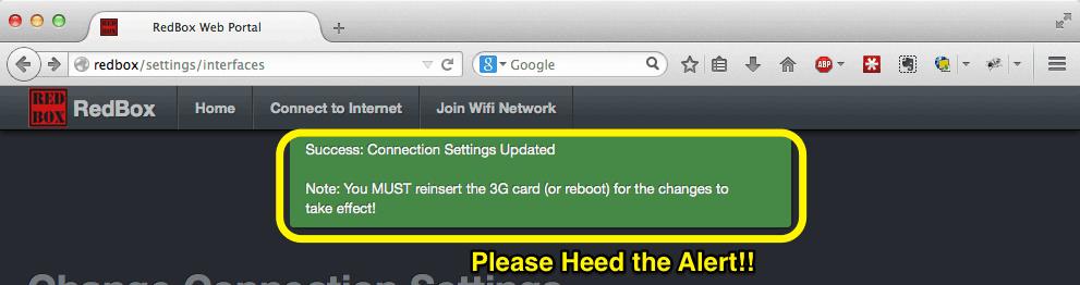 Red Box Configure APN 4G/3G Datacard - Support - MailASail